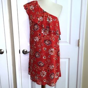 NWT Sequin Hearts Floral Off The Shoulder Dress